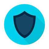 Shield Flat Circle Icon