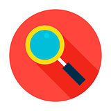 Search Flat Circle Icon