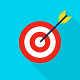 Sport Target Flat Icon