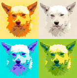 Set head dog pooch vector illustration