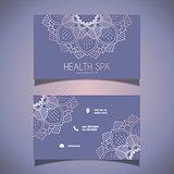 Decorative business card design