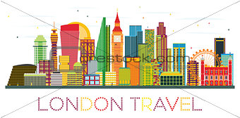 London Skyline with Color Buildings.