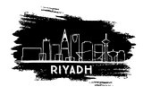 Riyadh Skyline Silhouette. Hand Drawn Sketch.