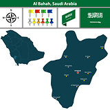 Map of Al Bahah, Saudi Arabia