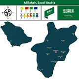 Map of Al Bahah, Saudi Arabia