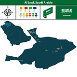 Map of Al Jawf, Saudi Arabia