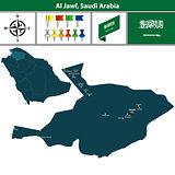 Map of Al Jawf, Saudi Arabia