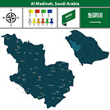 Map of Al Madinah, Saudi Arabia