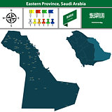 Map of Eastern Province, Saudi Arabia
