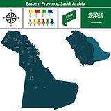 Map of Eastern Province, Saudi Arabia