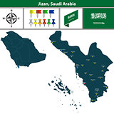 Map of Jizan, Saudi Arabia