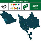 Map of Makkah, Saudi Arabia