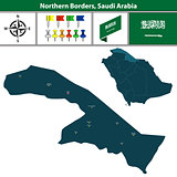 Map of Northern Borders, Saudi Arabia