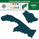Map of Northern Borders, Saudi Arabia