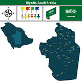 Map of Riyadh, Saudi Arabia