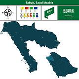 Map of Tabuk, Saudi Arabia