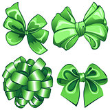 Set with green bows
