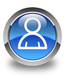 Member icon glossy blue round button