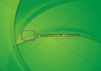 Abstract bright green corporate wavy background
