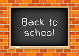 Back to school blackboard brick
