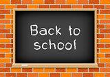 Back to school blackboard brick