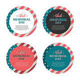 Memorial day banners and stickers
