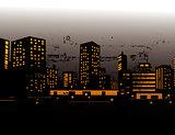 Vector illustration of urban skylines