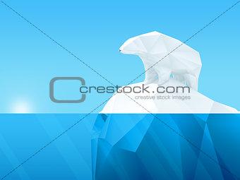 Polygonal bear on iceberg