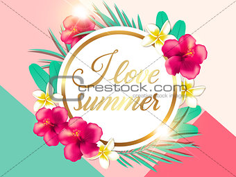 Abstract summer tropical background
