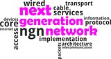 word cloud - next generation network