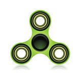 Green Fidget Spinner Focus Toy Illustration