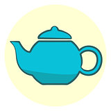 Cute blue teapot icon