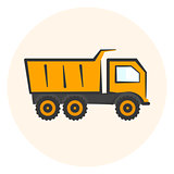 Colored dumper icon, dump track
