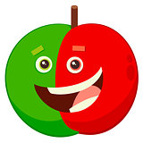 cartoon apple fruit character