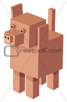 cubical dog cartoon character