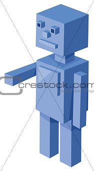 cubical robot cartoon character