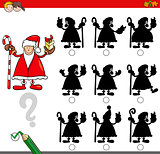 shadow game with santa claus