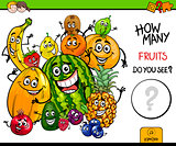 counting fruits educational game
