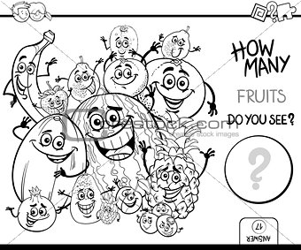 counting fruits coloring book