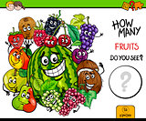 counting fruits educational activity