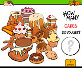 counting cakes educational activity