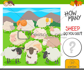 count the sheep activity worksheet