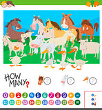 counting farm animals activity