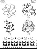 maths activity game coloring page