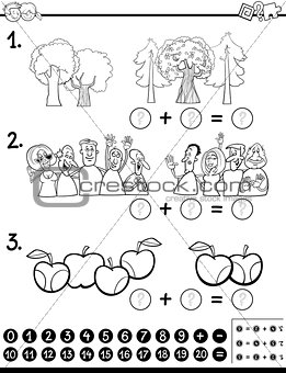 calculating maths activity coloring page