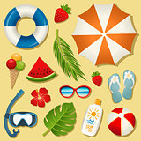 Set of vector summer elements