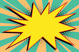 yellow comic burst explosion pop art