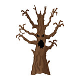 Halloween tree. Halloween icon isolated on white background