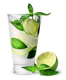 Lemonade with lime and mint