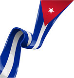 cuba ribbon flag on white background [Convertito]